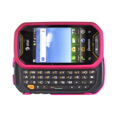 Pantech Crossover P8000 Rubberized Hard Case - Rose Pink