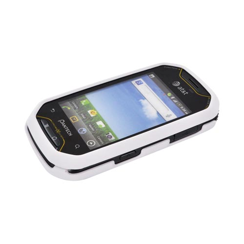 Pantech Crossover P8000 Rubberized Hard Case - Solid White