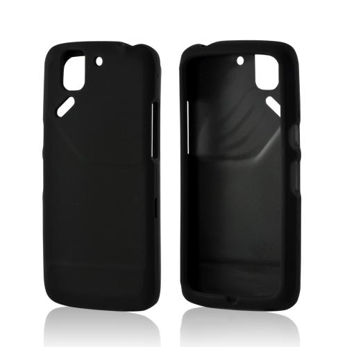 Black Rubberized Hard Case for Pantech Flex