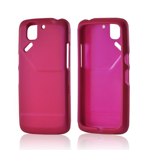 Hot Pink Rubberized Hard Case for Pantech Flex