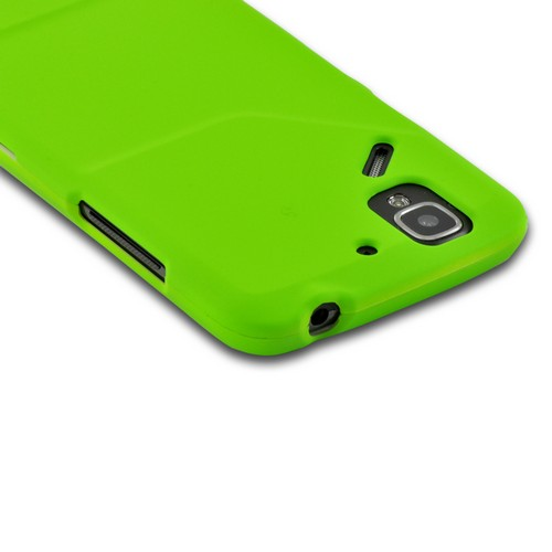 Neon Green Rubberized Hard Case for Pantech Flex