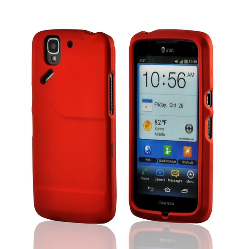 Orange Rubberized Hard Case for Pantech Flex