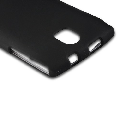 Black Rubberized Hard Case for Pantech Discover