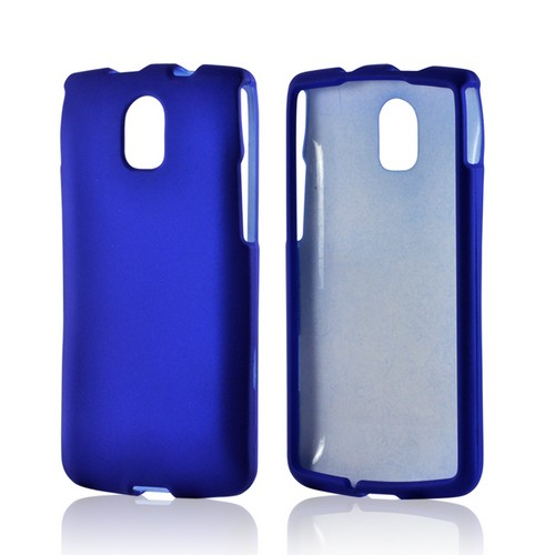 Blue Rubberized Hard Case for Pantech Discover