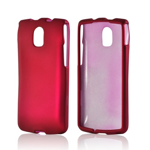Hot Pink Rubberized Hard Case for Pantech Discover