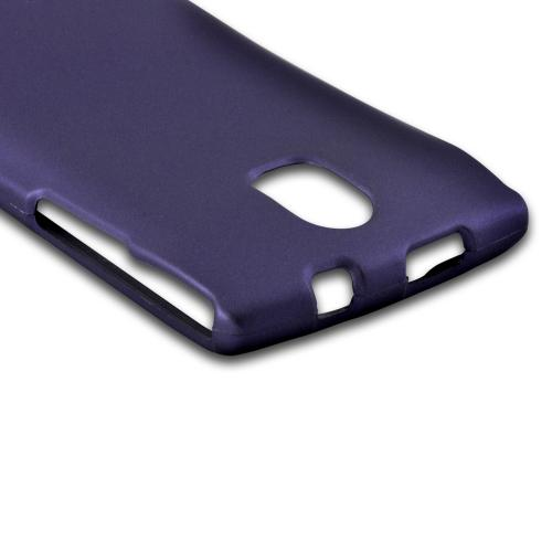 Purple Rubberized Hard Case for Pantech Discover