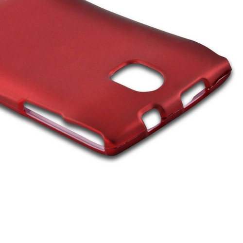 Red Rubberized Hard Case for Pantech Discover