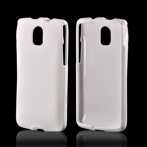 White Rubberized Hard Case for Pantech Discover
