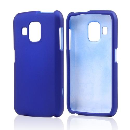 Blue Rubberized Hard Case for Pantech Perception