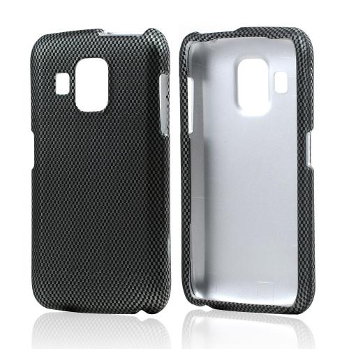 Black/ Gray Carbon Fiber Design Hard Case for Pantech Perception