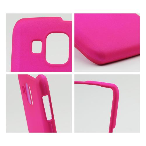 Hot Pink Rubberized Hard Case for Pantech Perception