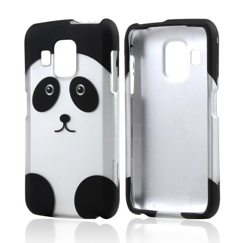 Black/ Silver Panda Bear Rubberized Hard Case for Pantech Perception