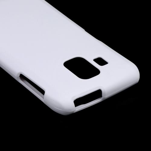 White Rubberized Hard Case for Pantech Perception