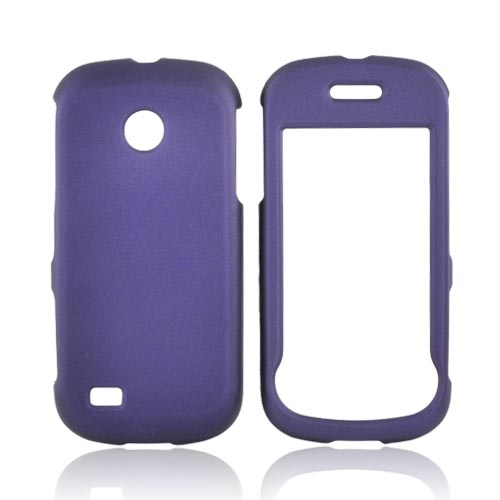 Luxmo Samsung Eternity 2 A597 Rubberized Hard Case - Purple