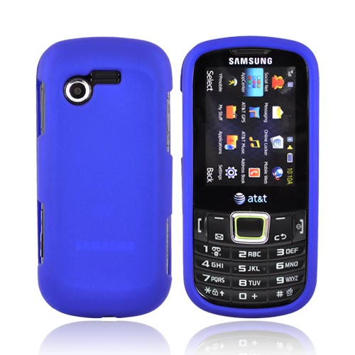 Samsung Evergreen A667 Rubberized Hard Case - Blue