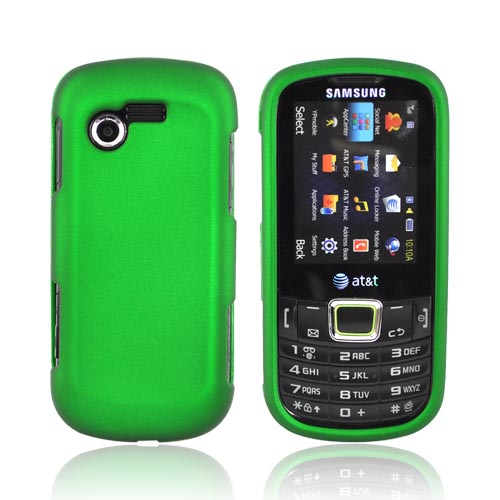 Samsung Evergreen A667 Rubberized Hard Case - Green