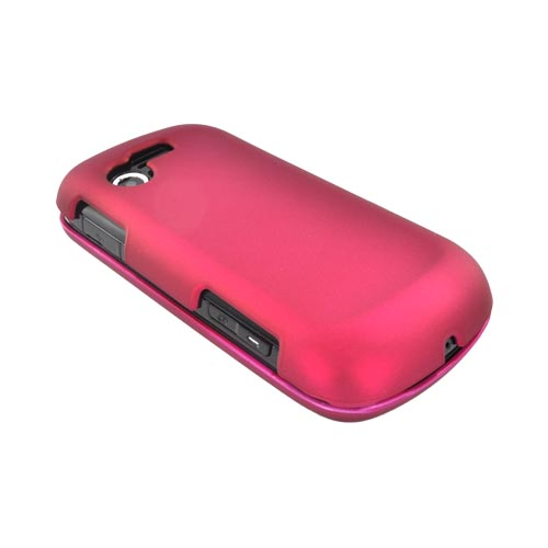 Samsung Evergreen A667 Rubberized Hard Case - Hot Pink