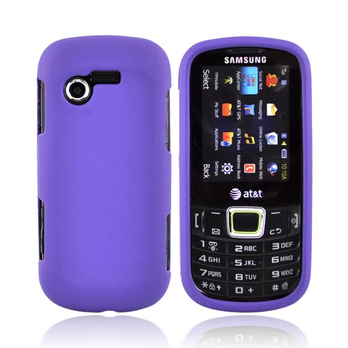 Samsung Evergreen A667 Rubberized Hard Case - Purple