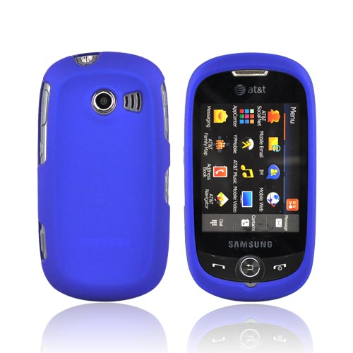 Samsung Flight II A927 Rubberized Hard Case - Blue