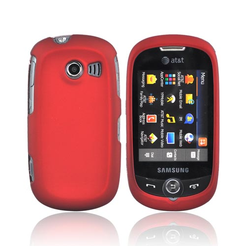 Samsung Flight II A927 Rubberized Hard Case - Red