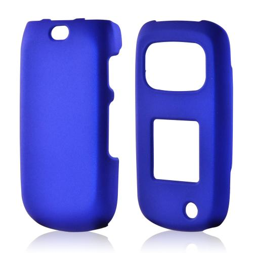 Blue Rubberized Hard Case for Samsung Rugby 3