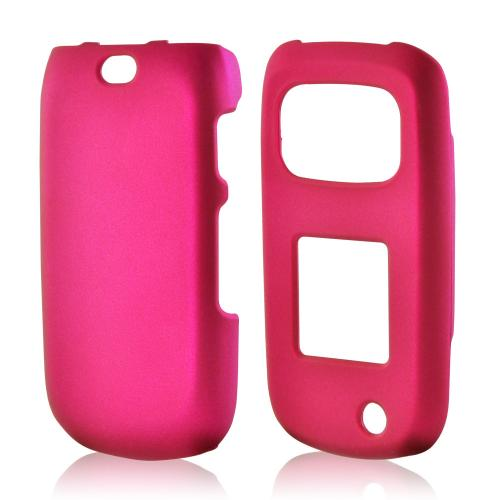 Rose Pink Rubberized Hard Case for Samsung Rugby 3