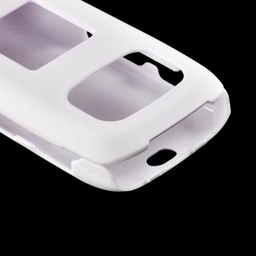 Solid White Rubberized Hard Case for Samsung Rugby 3