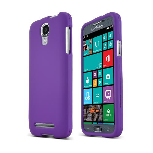 Purple Samsung Ativ SE Matte Rubberized Hard Case Cover; Perfect fit as Best Coolest Design Plastic cases