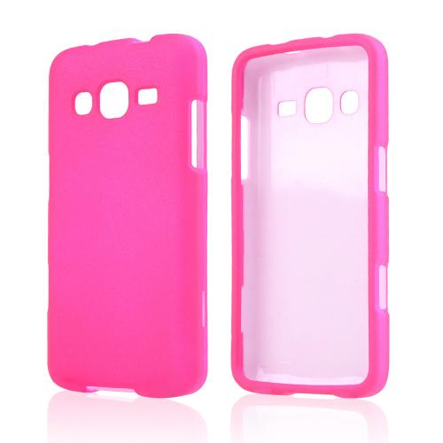 Hot Pink Rubberized Hard Case for Samsung ATIV S Neo