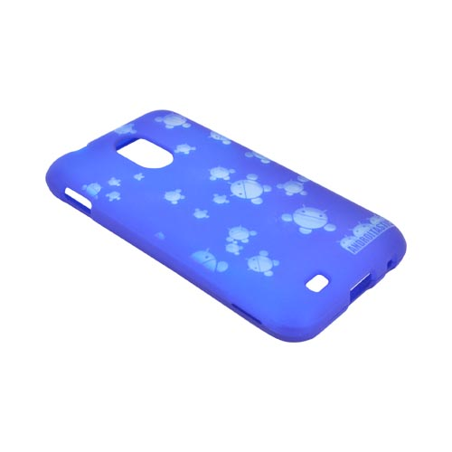 Samsung Epic 4G Touch Androitastic Rubberized Hard Case - Blue Bubble Bot Invasion
