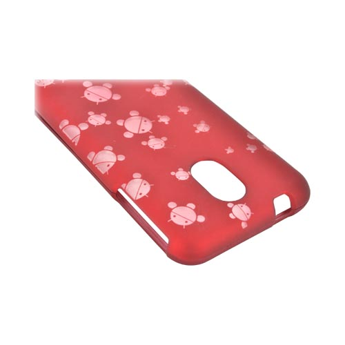 Samsung Epic 4G Touch Androitastic Rubberized Hard Case - Red Bubble Bot Invasion