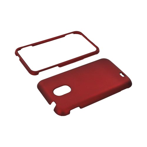 Samsung Epic 4G Touch Rubberized Hard Case - Red