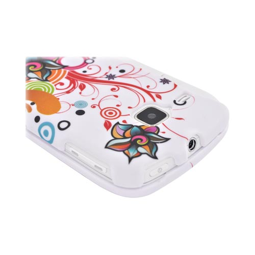 Samsung DoubleTime Rubberized Hard Case - Autumn Floral Burst on White