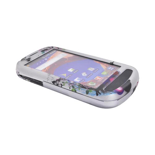 Samsung Epic 4G Rubberized Hard Case - Spring Blossom on Silver