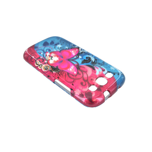 Samsung Galaxy S3 Hard Case - Hot Pink Butterfly Bliss
