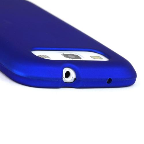 Samsung Galaxy S3 Rubberized Hard Case - Blue
