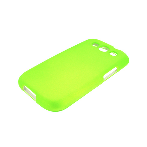 Samsung Galaxy S3 Rubberized Hard Case - Neon Green