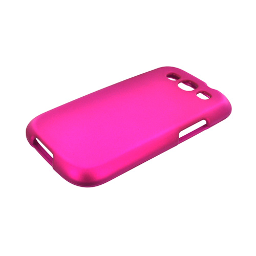 Samsung Galaxy S3 Rubberized Hard Case - Pink