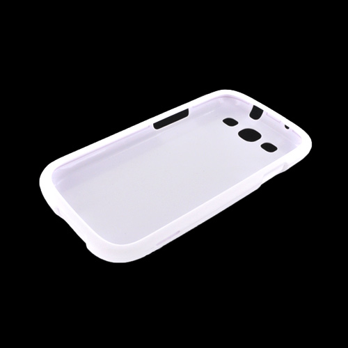 Samsung Galaxy S3 Rubberized Hard Case - White