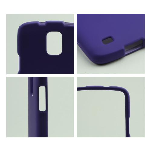 Purple Rubberized Hard Case for Samsung Galaxy S4 Active