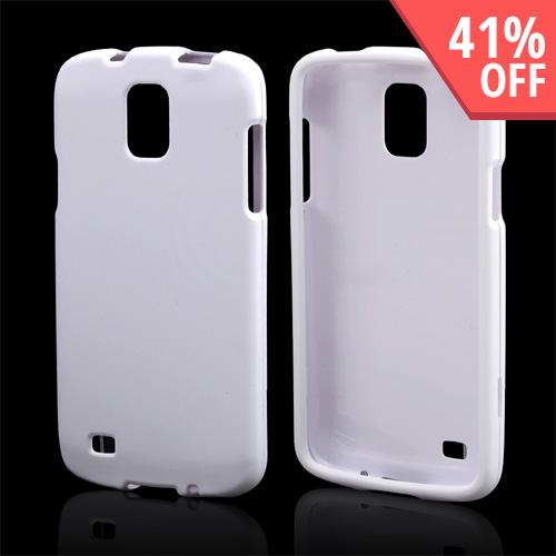 White Rubberized Hard Case for Samsung Galaxy S4 Active
