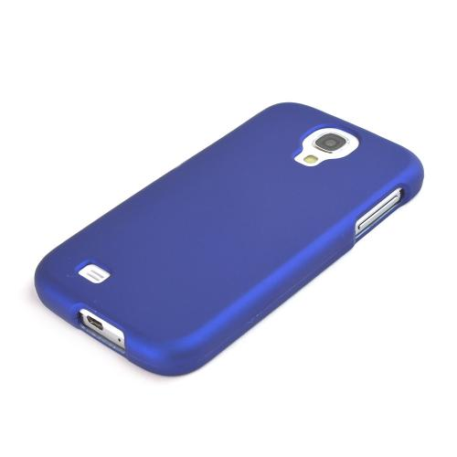 Blue Rubberized Hard Case for Samsung Galaxy S4