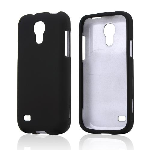 Black Rubberized Hard Case for Samsung Galaxy S4 Mini