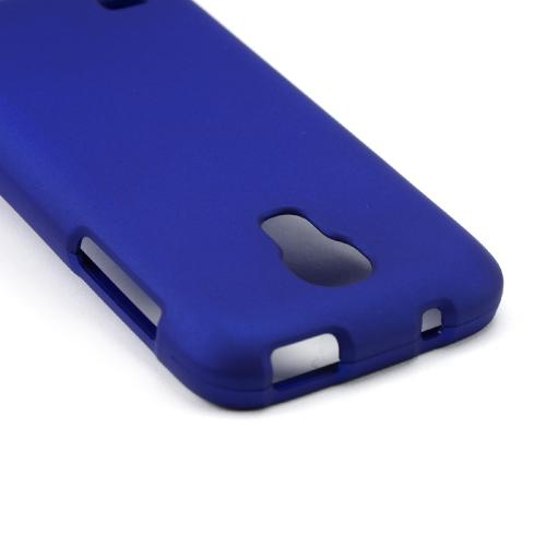 Blue Rubberized Hard Case for Samsung Galaxy S4 Mini