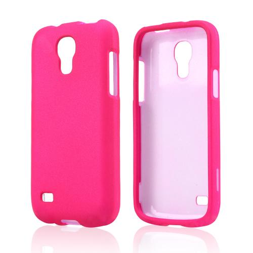 Hot Pink Rubberized Hard Case for Samsung Galaxy S4 Mini