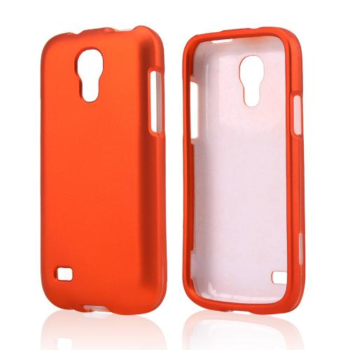 Orange Rubberized Hard Case for Samsung Galaxy S4 Mini