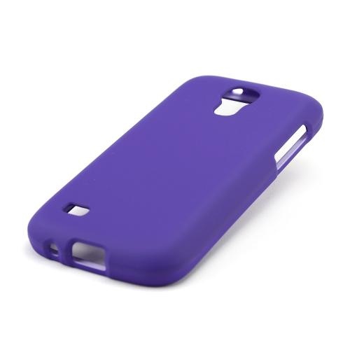 Purple Rubberized Hard Case for Samsung Galaxy S4 Mini