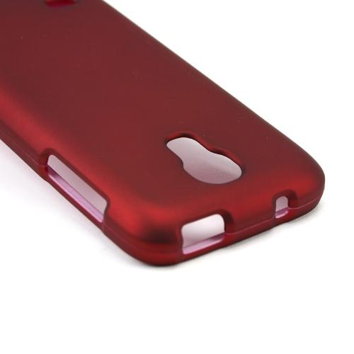 Red Rubberized Hard Case for Samsung Galaxy S4 Mini