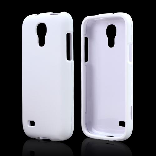 White Rubberized Hard Case for Samsung Galaxy S4 Mini