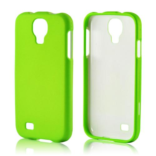 Neon Green Rubberized Hard Case for Samsung Galaxy S4